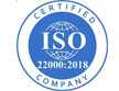 ISO 22000-2018 Certified Company